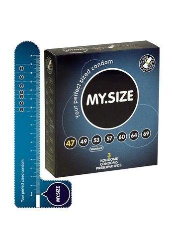 My.Size MY.SIZE 47 mm Condooms 3 stuks