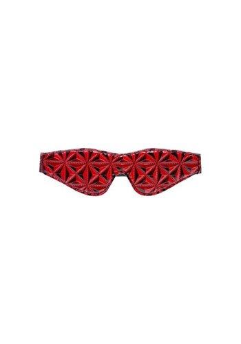 Crimson Tied Diamant Patroon Blinddoek - zwart/rood