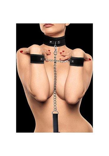 Ouch Klittenband Halsband en Boeien - zwart