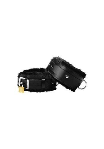 Strict Leather Premium boeien, met bont bekleed van Strict Leather - Smal
