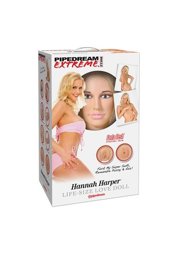 Pipedream Extreme Opblaaspop blond Hannah