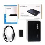 Orico Boîtier de disque dur 2,5 pouces / métal et en plastique / HDD / SSD / USB3.0 / Noir
