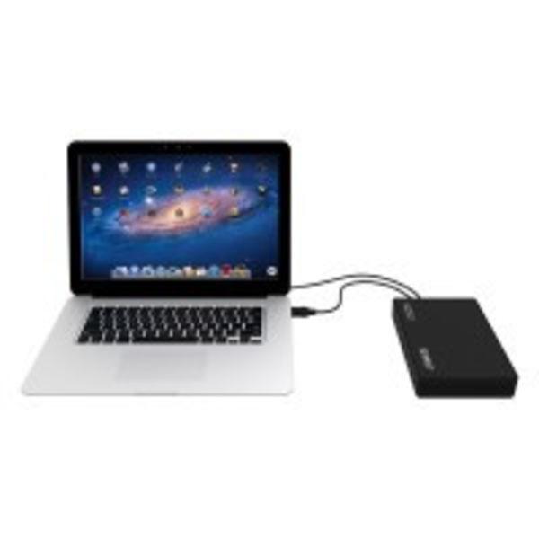 Orico Festplattengehäuse 3,5 Zoll / Metall und Kunststoff / HDD / SSD / USB3.0 / Schwarz