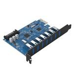 Orico 7 Poorts USB 3.0 PCI Express Kaart (5Gbps) met 7x USB