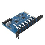 Orico 7 Port USB 3.0 PCI Express Card (5 Gbps) 7x USB
