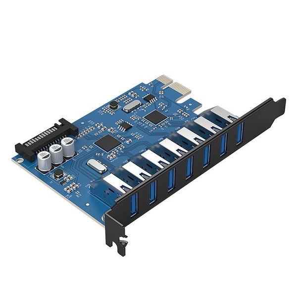 Orico 7 Port USB 3.0 PCI Express Card (5Gbps) with 7x USB