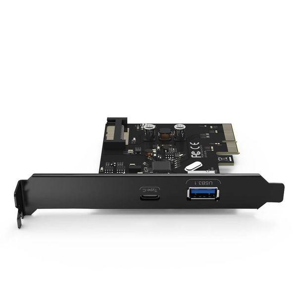 Orico 2 Port USB 3.1 Gen 2 + Type-C PCIe Card (10Gbps) avec 1x USB-A et 1 x USB Type C C