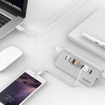 Orico 7 Port USB 3.0 Hub Aluminium 7 ports haute vitesse, y compris adaptateur secteur 5Gbps 12V