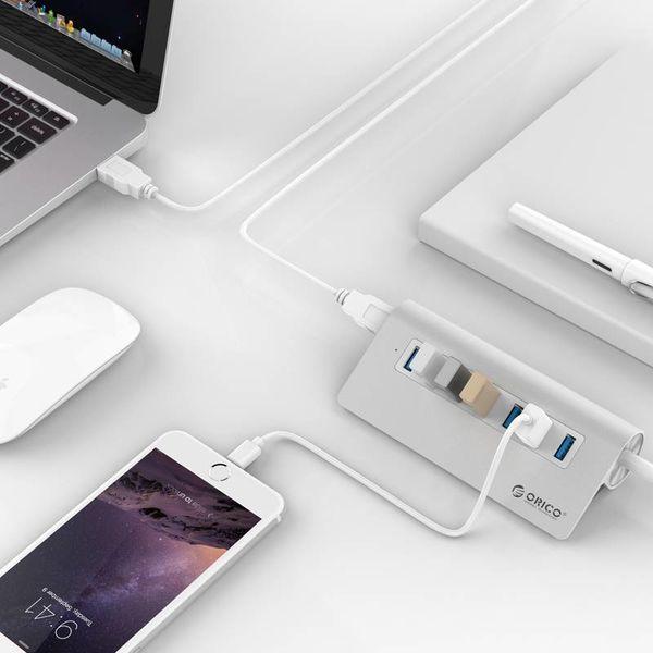 Orico 7 Port USB 3.0 Hub Aluminum 7-port Hub High Speed 5Gbps including 12V Power adapter