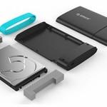 Orico Typ-C-2,5-Zoll-Festplattengehäuse USB 3.0 SATA HDD / SSD Tragbares Schwarz