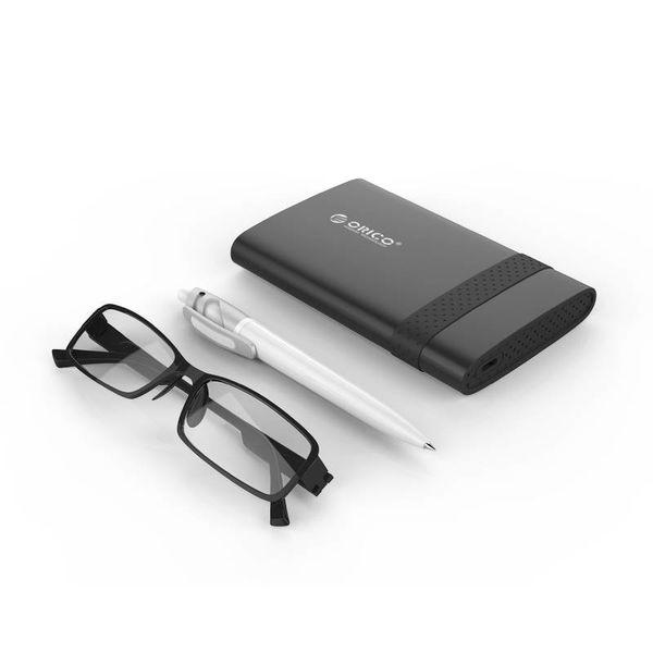 Orico Type-C 2,5 pouces Boîtier de disque dur USB 3.0 SATA HDD / SSD portable Noir