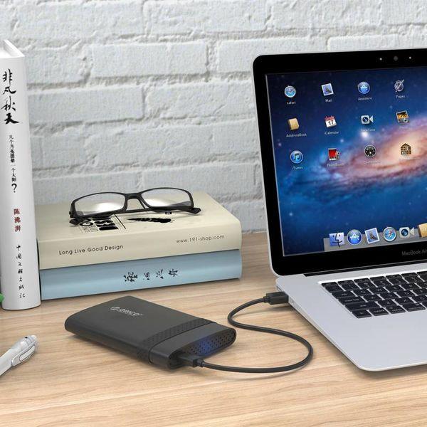 Orico Harde Schijf Behuizing 2,5 inch / Kunststof / Grip / Micro-B aansluiting / HDD / SSD / USB3.0 / Zwart