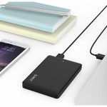 Orico Hard Drive Enclosure 2.5 inch / Plastic / IC chip / HDD / SSD / USB3.0 / Black