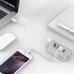 Orico 4 Port USB 3.0 Hub Aluminium 4 Port Hub High Speed 5Gbps Mac Style
