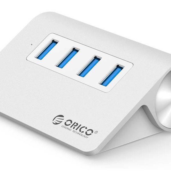 Orico 4 Port USB 3.0 Hub Aluminum-4 port Hub High Speed 5Gbps in Mac style