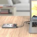 Orico Festplattengehäuse 2,5 Zoll / Kunststoff / Transparent / HDD / SSD / USB3.0