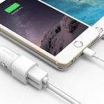 Orico 2-Port USB-Autoladegerät 12V / 24V 3.4 A max 17W Intelligent IC - Weiß