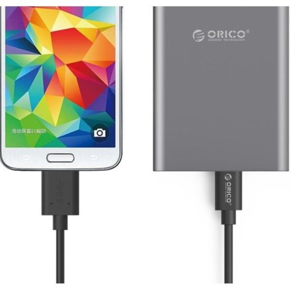 Orico USB 3.0 Micro B to Type C Data & Charging Cable 1.5 meter Black