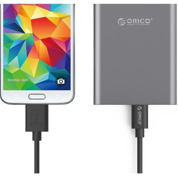 Orico USB 3.0 Micro B Type C données et câble de charge 1,5 mètre Noir