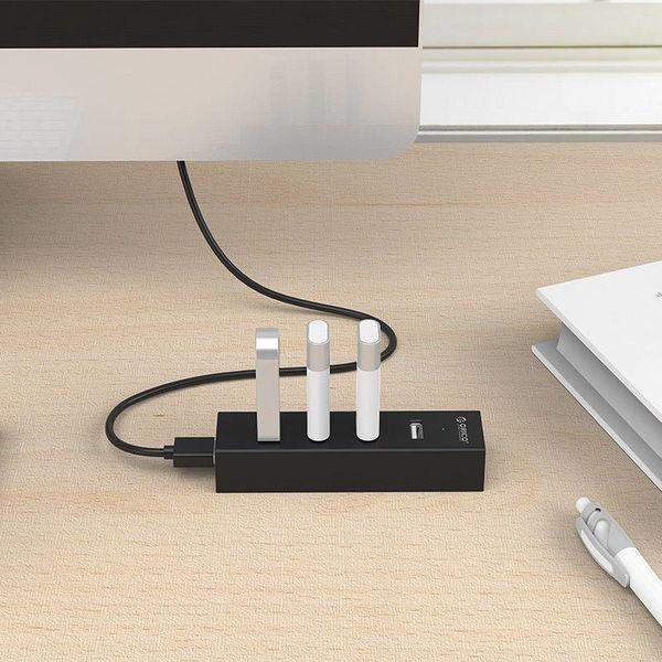 Orico 4 Port USB 2.0 Hub mit 20cm Matte Black Datenkabel