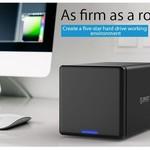 Orico Soft closing 4 Bay Type-C Harde Schijf Behuizing 3.5 inch SATA HDD/SDD Docking Station zwart