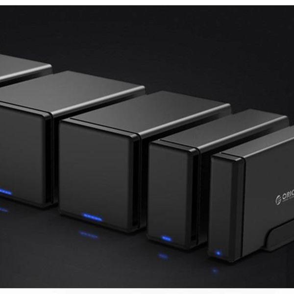 Orico magnétique Bay 4 Type-C Boîtier pour disque dur 3,5 pouces station d'accueil pour disque dur SATA / SSD noir