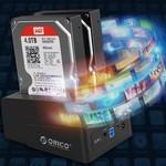 Orico Dual Bay SATA naar USB 3.0 Extern HDD Docking Station met duplicate / clone functie