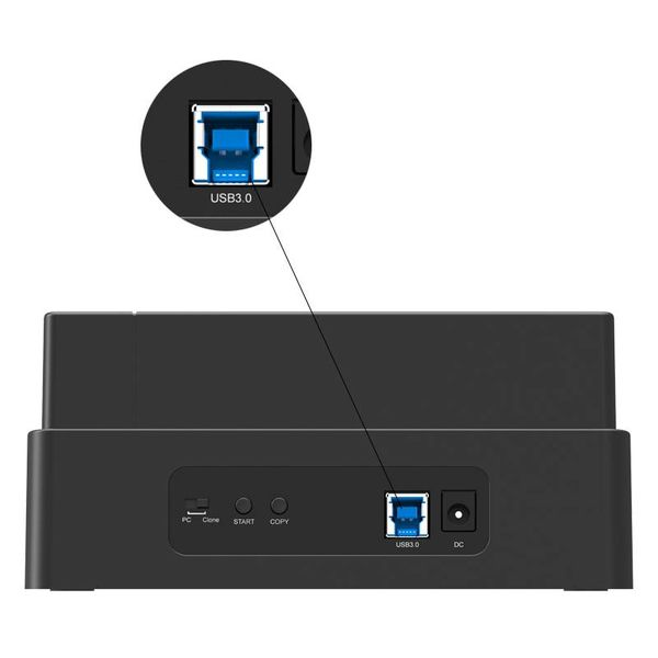 Orico 3 Bay SATA to USB 3.0 External HDD Docking Station with duplicate / clone function