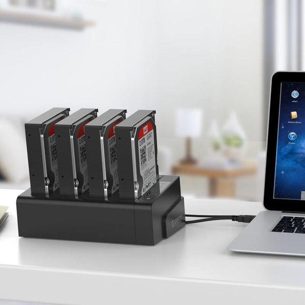 Orico 4 baies SATA vers USB 3.0 Station d'accueil pour disque dur externe avec double / clone baie multifonction