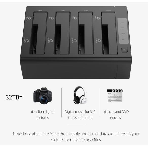 4 Bay Sata To Usb 3 0 External Hdd Docking Station With