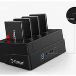 Orico 4 Bay SATA zu USB 3.0 externer HDD-Dockingstation mit doppeltem / klonen Multifunktionsschacht