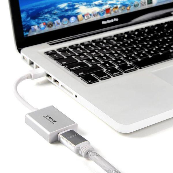 Orico Mini DisplayPort to HDMI adapter Silver-colored Mac Style