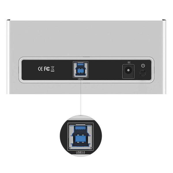 Orico Aluminium Disque dur externe Station d'accueil pour 2,5 et 3,5 pouces HDD / USB3.0 DDI - Argent / blanc de style Mac