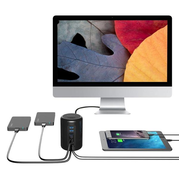 Orico USB 3.0 HUB 6 Poorten BC1.2 SD & TF met 1 Meter USB3.0 Kabel