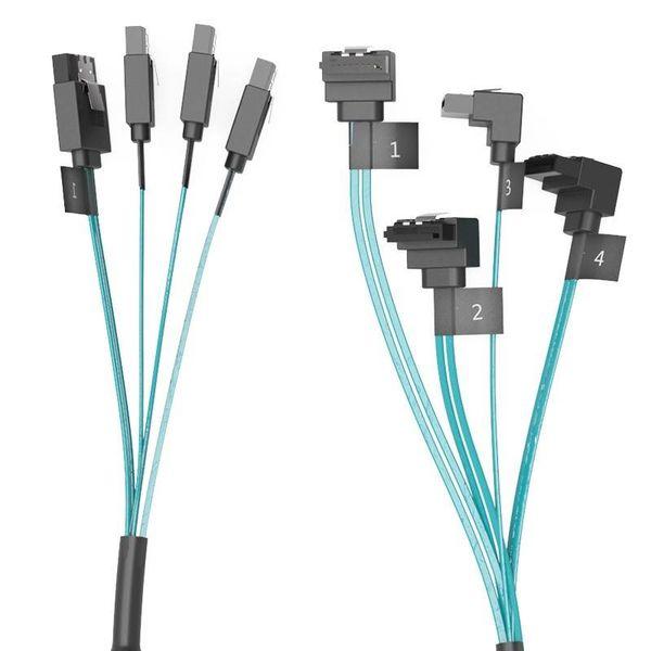 Orico SATA 3 Kombikabel 4 in 1 High End - für HDD / SSD - Blau mit Schwarz