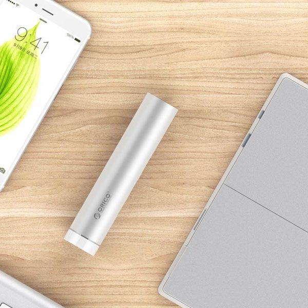 Orico Aluminium USB3.0 hub met 4 Type-A poorten - Type-C & Type-A -5Gbps - VIA contoller - Zilver