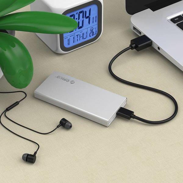 Orico aluminium mSATA USB3.0 boîtier de disque dur avec une connexion de type C - SSD - y compris vis - argent