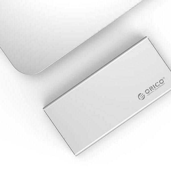 Orico Aluminium mSATA USB3.0 Festplattengehäuse mit Typ-C-Verbindung - SSD - einschließlich Schrauben - Silber