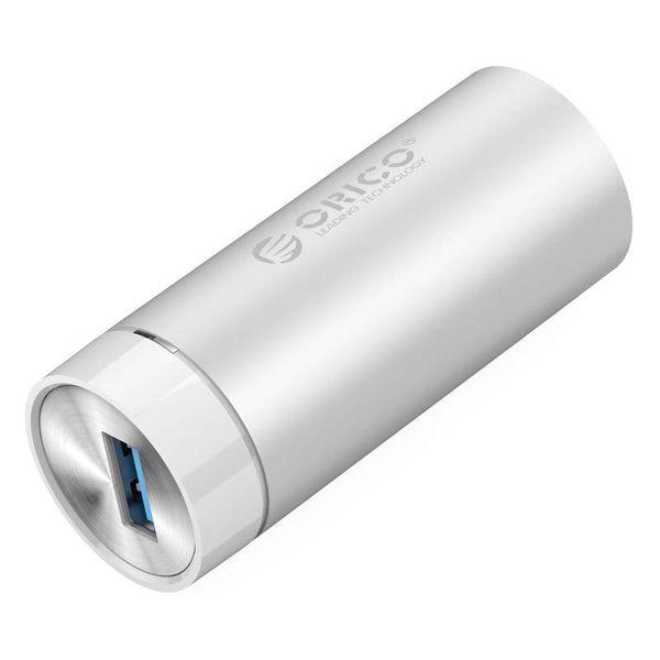 Orico Aluminium SuperSpeed USB 3.0 Gigabit Ethernet Adapter - incl. USB 3.0 Type A à type A câble / C - 10/100 / 1000Mbps - Argent métallisé