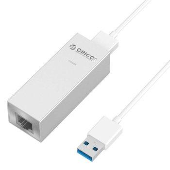 Orico Aluminium USB 3.0 auf Gigabit-Ethernet-Adapter - Silber