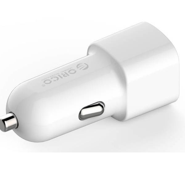 Orico 2 port USB car charger 12V / 24V 3.4A max 17W with Intelligent IC - White