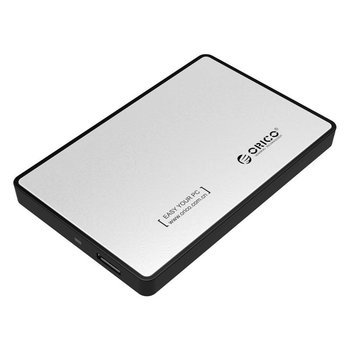 Orico Hard Drive Enclosure 2.5 inch / Metal & Plastic / HDD / SSD / USB3.0 / Silver