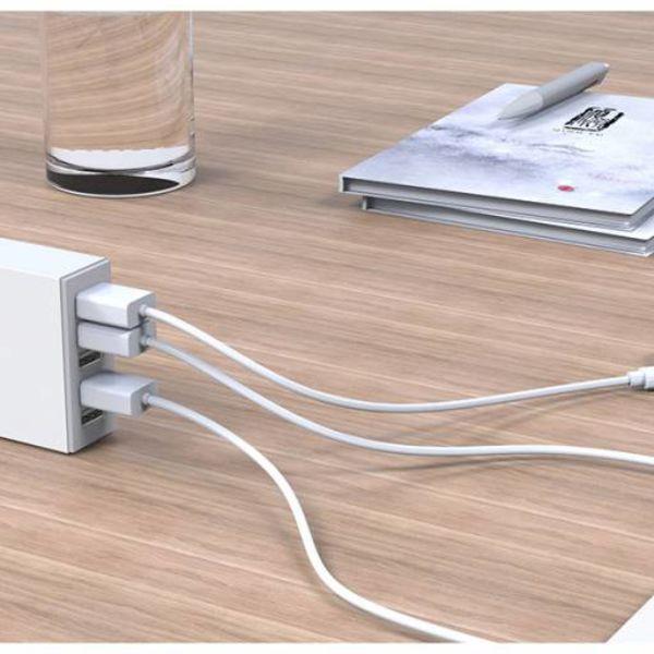 Orico 5 Port USB Smart Desk Charger - White