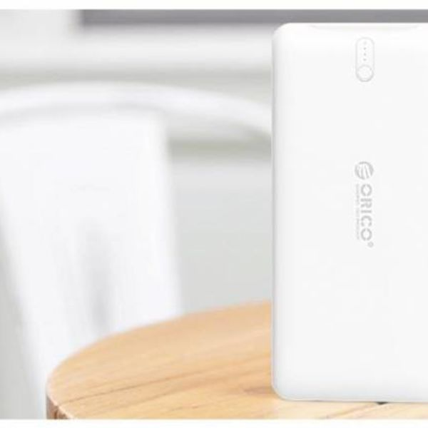 Orico 10000mAh Power Bank Li-Po 2.4A Smart Charge External Battery White