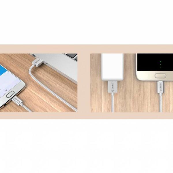 Orico 1m fort 3A Micro données USB et câble de chargement pour téléphones intelligents et tablettes