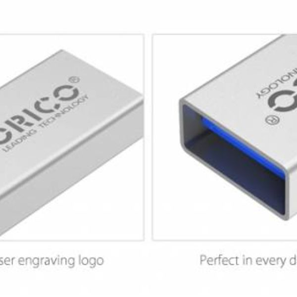 Orico Type-C to USB 3.0 Type-A OTG Adapter - Charging & Data Transfer - Silver