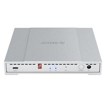 Orico 2,5 pouces RAID disque dur du boîtier USB3.1 10Gbps C-Type en aluminium à double baie