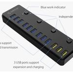 Orico 12 port multi-fonctionnel hub USB 3.0 avec BC 1.2 ports de charge