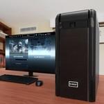 Orico 3,5 pouces SATA support 05h25 baie de disque support de montage Adaptateur Drive - noir