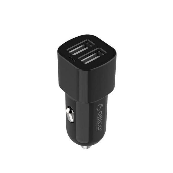 Orico 2 port USB car charger 12V / 24V 3.4A max 17W with Intelligent IC - black
